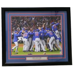 """Chicago Cubs 22x27 Custom Framed """"2016 World Series Champions"""" Photo Display"""