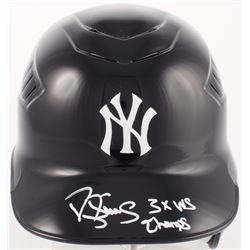 """Darryl Strawberry Signed Yankees Full-Size Rawlings Authentic Batting Helmet Inscribed """"3x WS Champs"""