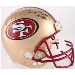 Steve Young  Jerry Rice Signed 49ers Full-Size Authentic On-Field Helmet (JSA COA)