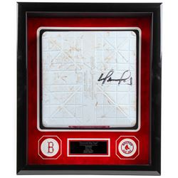David Ortiz Signed Red Sox Mother's Day 4x22.5x26.5 Custom Framed Game-Used Base Shadow Box Display