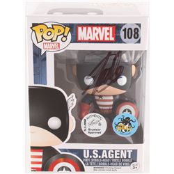 "Stan Lee Signed ""U.S. Agent"" #108 Marvel Funko Pop Vinyl Bobble-Head Figure (Lee Hologram)"