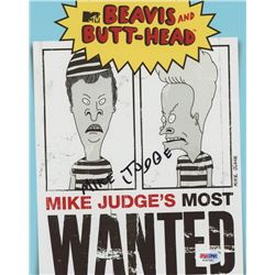"Mike Judge Signed 8x10 ""Beavis and Butt-Head"" Photo"