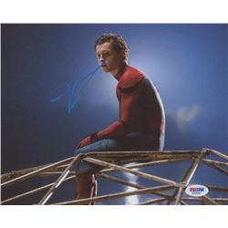 "Tom Holland Signed 8x10 ""Spiderman: Homecoming"" Photo (PSA COA)"