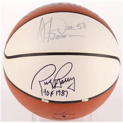 Rick Barry  Artis Gilmore Signed Basketball With Inscription (JSA COA)
