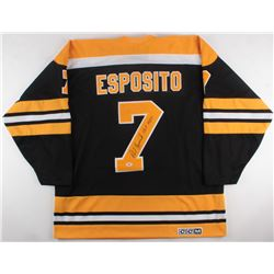 "Phil Esposito Signed Bruins Jersey Inscribed ""HOF 1984"" (PSA COA)"