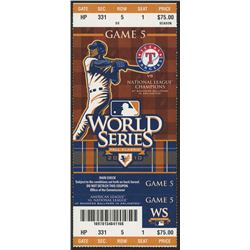 San Francisco Giants World Series Game 5 Ticket vs. Texas Rangers