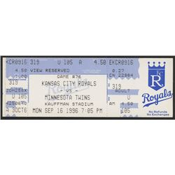Paul Molitor Royals vs. Twins Ticket from September 16, 1996