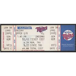 Eddie Murray Twins vs. Indians Ticket from June 30, 1995