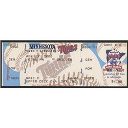 Cal Ripken Jr. Orioles vs. Twins Ticket from April 15, 2000