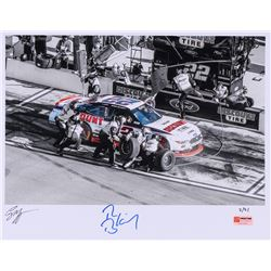 Ryan Blaney Signed Limited Edition NASCAR 11x14 Photo #/21 (PA COA)