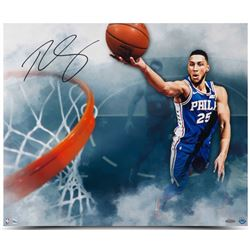 "Ben Simmons Signed 76ers ""Above The Clouds"" 20x24 Photo (UDA Hologram)"