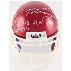 "DeMarco Murray Signed Oklahoma Sooners Mini-Helmet Inscribed ""6,718 A.P. Yards""  ""65 TD's"" (Radtke H"