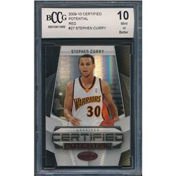 2009-10 Certified Potential Red #27 Stephen Curry  (BCCG 10)