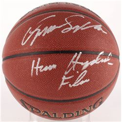 "Dominique Wilkins Signed Basketball Inscribed ""Human Highlight Film"" (Schwartz COA)"