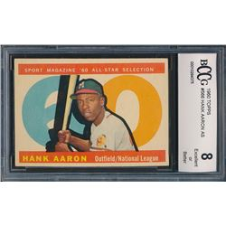 1960 Topps #566 Hank Aaron All Star (BCCG 8)