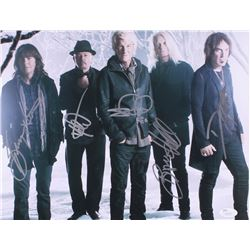 REO Speedwagon 11x14 Photo Signed by (5) with Bruce Hall, Kevin Cronin, Bryan Hitt, Neal Doughty  Da