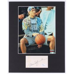 "Woody Harrelson Signed ""White Men Can't Jump"" 11x14 Custom Matte Signature Cut Display With Photo (J"