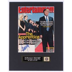 Donald Trump Signed 11x14 Custom Matted Entertainment Weekly Magazine Cover Display With Plaque (JSA