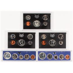Lot of (5) United States Proof Set of (5) Coins with 1966, 1967, 1968, 1969,  1970