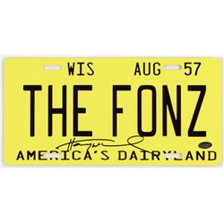 "Henry Winkler Signed ""Happy Days""  The Fonz Wisconsin State License Plate Prop Replica (Schwartz COA"