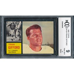 1962 Topps #104 Frank Gifford( BCCG 9)