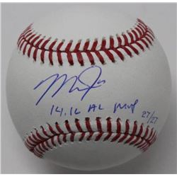 "Mike Trout Signed LE Baseball Inscribed ""14, 16 MVP"" (Steiner COA)"