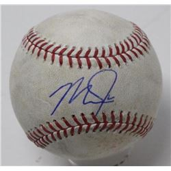 Mike Trout Signed Game-Used Baseball (Steiner COA)