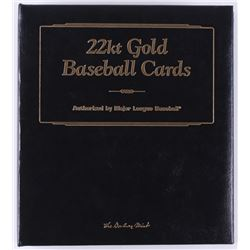 Complete Set of (50) 1996-03 Danbury Mint 22kt Gold Baseball Cards with #30 babe Ruth, #7 Duke Snide