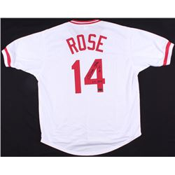 "Pete Rose Signed Reds Jersey Inscribed ""1A""  ""63 ROY"" (Radtke COA)"