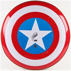 "Stan Lee Signed ""Captain America"" Marvel Authentic Full-Size Metal Shield (Radtke COA  Stan Lee Holo"