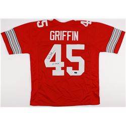 """Archie Griffin Signed Ohio State Buckeyes Jersey Inscribed """"H.T. 1974/75"""" (Radtke Hologram)"""