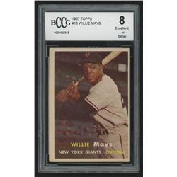 1957 Topps #10 Willie Mays (BCCG 8)
