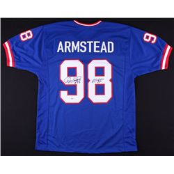 """Jesse Armstead Signed Giants Jersey Inscribed """"All Pro"""" (PSA COA)"""