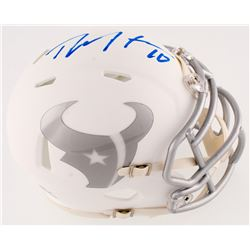 DeAndre Hopkins Signed Texans White IC Speed Mini-Helmet (Radtke Hologram)