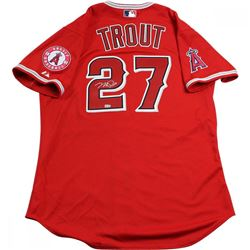Mike Trout Signed Angels Jersey (MLB Hologram  Steiner COA)