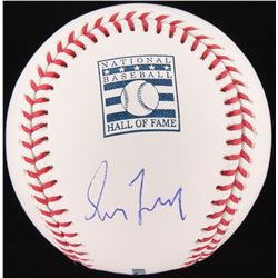 Greg Maddux Signed OML Hall of Fame Logo Baseball (JSA COA)