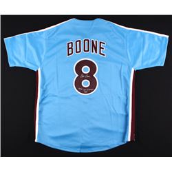 "Bob Boone Signed Phillies Jersey Inscribed ""1980 WS Champs"" (Leaf COA)"
