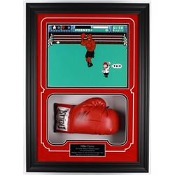 Mike Tyson Signed 6x21.25x29.25 Custom Framed Everlast Boxing Glove Display (Steiner COA)