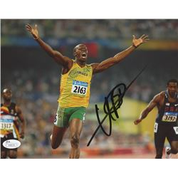 Usain Bolt Signed 2008 Summer Olympics 8x10 Photo (JSA COA)