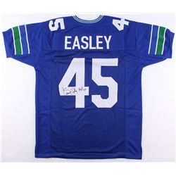 "Kenny Easley Signed Seahawks Jersey Inscribed ""HOF-17"" (JSA COA)"