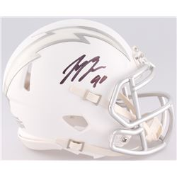 Joey Bosa Signed Chargers Custom Matte White ICE Speed Mini Helmet (JSA COA)