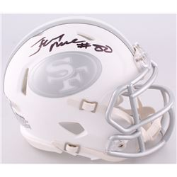 Jerry Rice Signed 49ers Custom Matte White ICE Speed Mini Helmet (Beckett COA)
