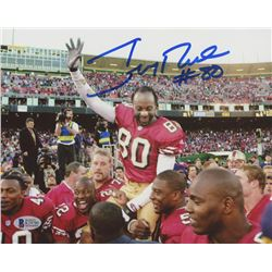 Jerry Rice Signed 49ers 8x10 Photo (Beckett COA)