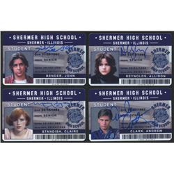 "Lot of (4) ""The Breakfast Club"" Signed Shermer High School ID Cards with Judd Nelson, Molly Ringwald"