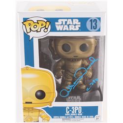 "Anthony Daniels Signed ""C-3P0"" #13 Star Wars Funko Pop Vinyl Bobble-Head Figure Inscribed ""C-3P0"" (R"