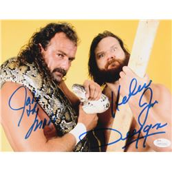 "Jake ""The Snake"" Roberts  ""Hacksaw"" Jim Duggan Signed 8x10 Photo (JSA COA)"