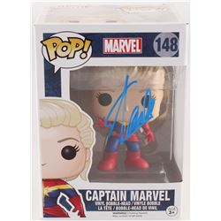 "Stan Lee Signed ""Captain Marvel"" #148 Funko Pop! Bobble-Head Figure (Lee Hologram)"