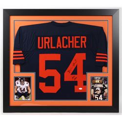 "Brian Urlacher Signed Bears 31x35 Custom Framed Jersey Inscribed ""HOF 2018"" (JSA COA)"