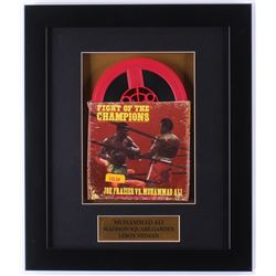 "Vintage 1970's 8mm ""Fight of the Champions: Joe Frazier vs. Muhammad Ali"" 11.75x14 Custom Framed Cas"