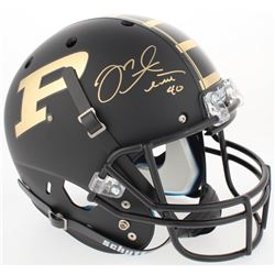 Mike Alstott Signed Purdue Boilermakers Custom Matte Black Full-Sized Helmet (Radtke COA)